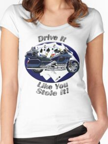 Honda Gold Wing Drive It Like You Stole It Women's Fitted Scoop T-Shirt