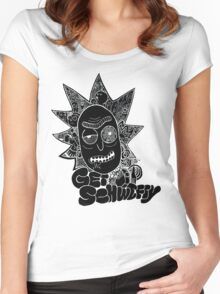Get Schwifty Invert Women's Fitted Scoop T-Shirt