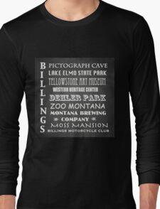 Billings Montana Famous Landmarks Long Sleeve T-Shirt