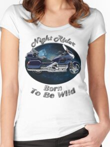 Honda Gold Wing Night Rider Women's Fitted Scoop T-Shirt