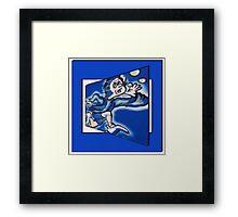 blue boy runnin' (square) Framed Print