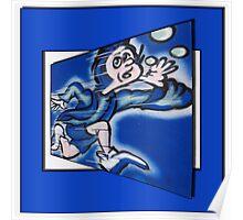 blue boy runnin' (square) Poster