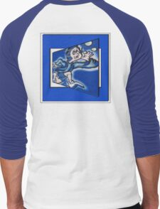 blue boy runnin' (square) Men's Baseball ¾ T-Shirt