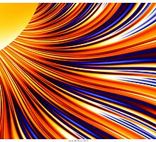 Color and Form Abstract - Solar Gravity and Magnetism 3 by Leah McNeir