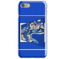 blue boy runnin' (square) iPhone Case/Skin