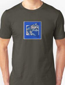 blue boy runnin' (square) (front) T-Shirt