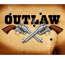 Western outlaw background illustration Photographic Print