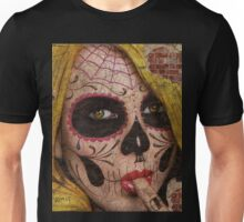 Underneath it all......its just bricks in the wall. Unisex T-Shirt