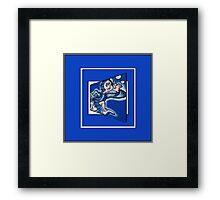 blue boy runnin' (sq full frame) Framed Print