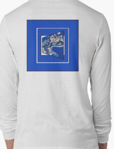 blue boy runnin' (sq full frame) Long Sleeve T-Shirt