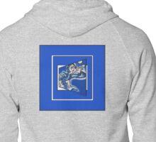 blue boy runnin' (sq full frame) Zipped Hoodie