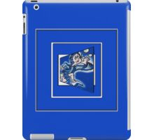 blue boy runnin' (sq full frame) iPad Case/Skin