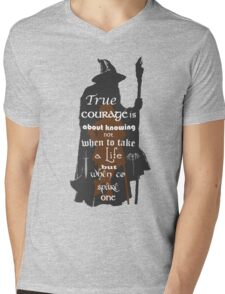 True Courage Mens V-Neck T-Shirt