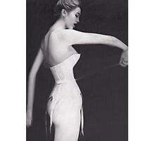 Woman in Corset Photographic Print