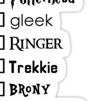 What's your fandom? Sticker