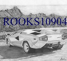 Lamborghini Countach S EXOTIC CAR ART PRINT by rooks10904