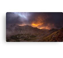 Sunrise in the Sangre de Cristo - Sangre de Cristo Wilderness, Colorado Canvas Print