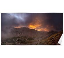 Sunrise in the Sangre de Cristo - Sangre de Cristo Wilderness, Colorado Poster