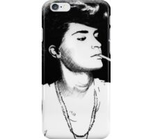 smoking girl iPhone Case/Skin