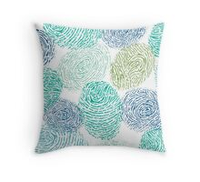 Fingerprints pattern Throw Pillow