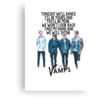 The Vamps - Wild Heart Canvas Print