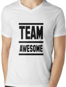 Team Awesome Mens V-Neck T-Shirt