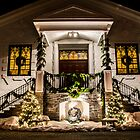 St. Joseph's At Christmas Front by Dennis Maida