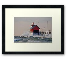 Freezing Cold Framed Print