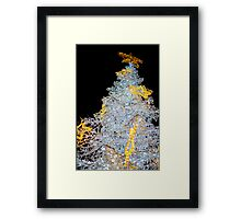 White Christmas Tree Decoration Lights Closeup Framed Print