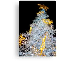 White Christmas Tree Decoration Lights Closeup Canvas Print
