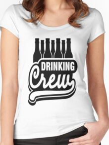 Drinking Crew Women's Fitted Scoop T-Shirt
