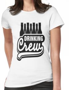 Drinking Crew Womens Fitted T-Shirt