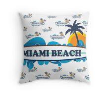 Miami Beach. Throw Pillow