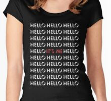 Hello, it's me. (II) - Adele Women's Fitted Scoop T-Shirt