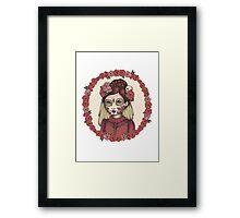 Lace & Rose - Sugarskull sister Framed Print