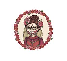 Lace & Rose - Sugarskull sister Photographic Print