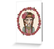 The Little Sister - Sugarskull sisters Greeting Card