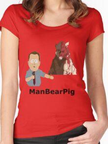 ManBearPig Women's Fitted Scoop T-Shirt