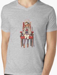 Little Yuudachi as Admiral Mens V-Neck T-Shirt