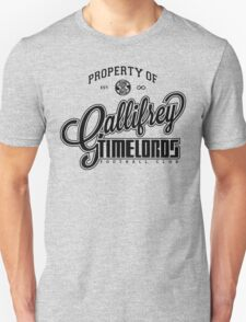 Property of Gallifrey Timelords Football Club Unisex T-Shirt