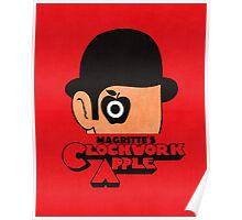 Magritte's Clockwork Apple Poster