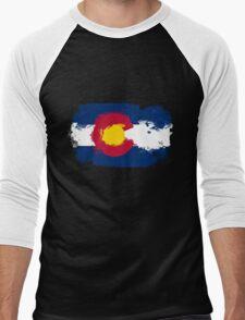 Colorado Flag Grunge Men's Baseball ¾ T-Shirt