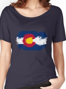 Colorado Flag Grunge Women's Relaxed Fit T-Shirt