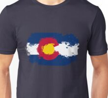 Colorado Flag Grunge Unisex T-Shirt