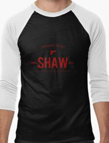 Person of Interest - Shaw - Black Men's Baseball ¾ T-Shirt