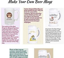 Beer Mugs Personalized by Raj Kundra