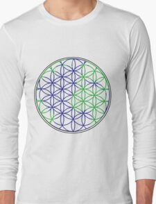 The Flower of Life (Earth #3) Long Sleeve T-Shirt