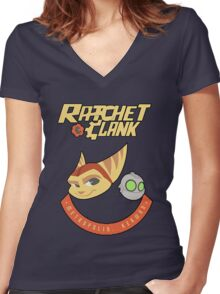 Ratchet & Clank Women's Fitted V-Neck T-Shirt