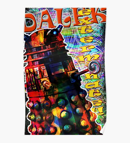 Dalek - Exterminate! by Mark Compton Poster