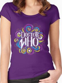 Whimsically Wibbly Wobbly Timey Wimey - Dark Shirt The Second Women's Fitted Scoop T-Shirt